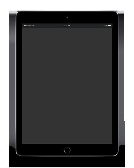 blank ipad model