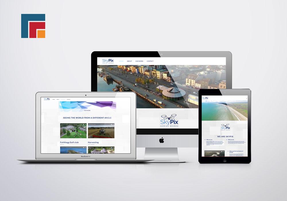 Website mock up for Skypix Aerial Works