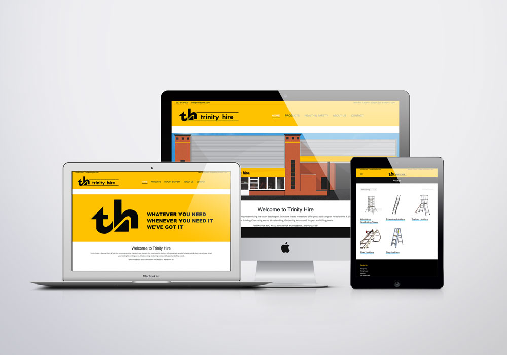 Trinity Hire Website mock up
