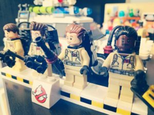 Close up of Lego Ghostbusters