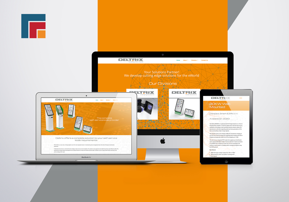 Offaly Web Design, Deltrix website   Kieran Daly Design